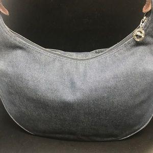 Longchamp denim satchel